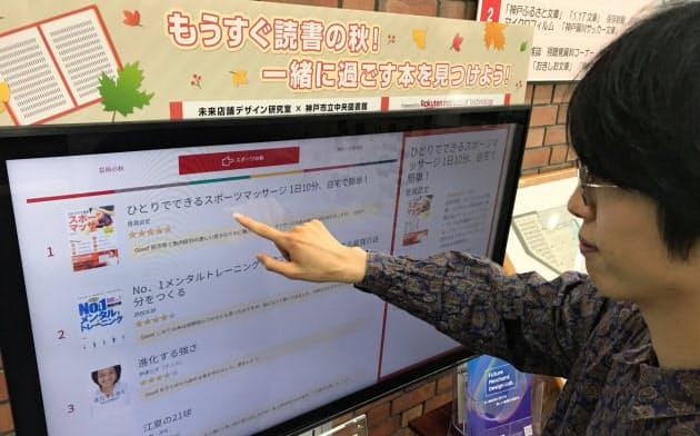 本を借りる前に楽天のレビューを確認できる(神戸市の中央図書館)
