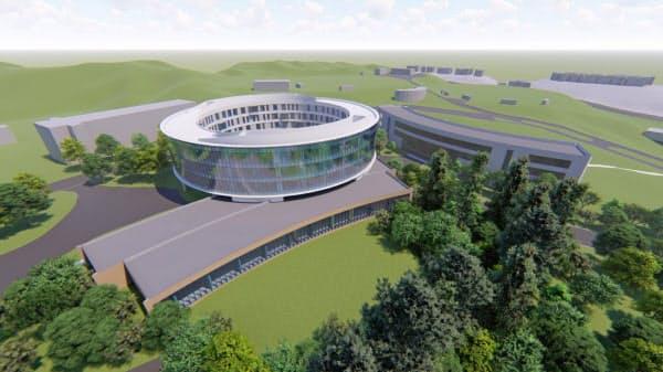 栗本学園が新設を計画する全寮制の「国際高校(仮称)」の予定図
