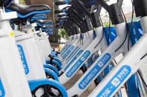 アリババ系のハローバイクには電動自転車もある(同)