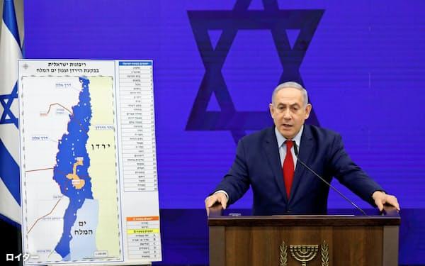 イスラエルのネタニヤフ首相は10日、ヨルダン渓谷などを併合する方針を示した=ロイター