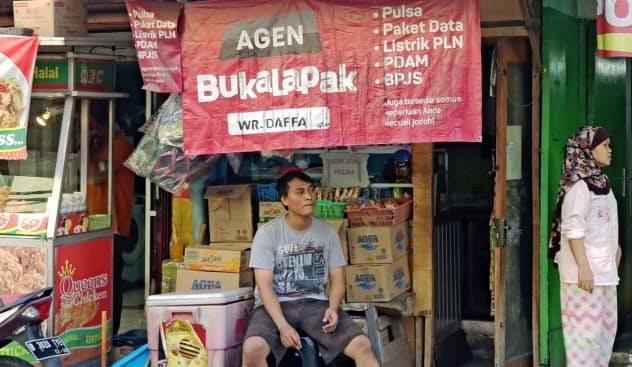 ブカラパックのシステムを使い商品を調達する零細店舗(ジャカルタ)
