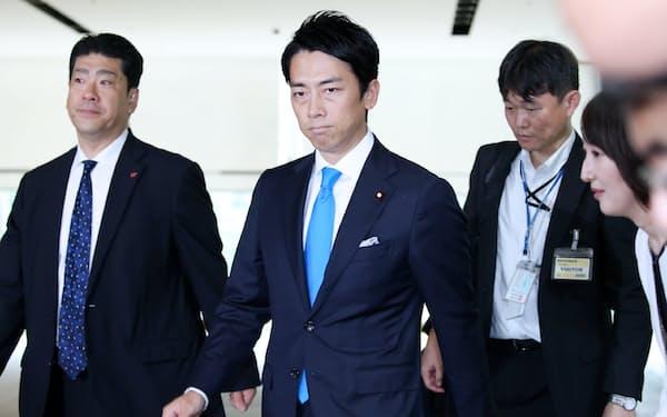 環境相に決まった小泉進次郎氏(11日、首相官邸)
