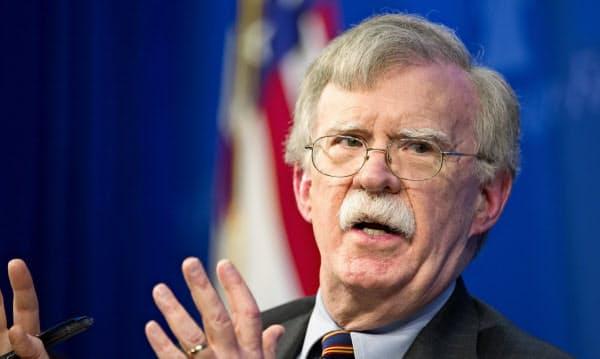 ボルトン前大統領補佐官は北朝鮮への強硬姿勢でしられる=AP