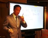 台湾・鴻海の郭台銘氏は無所属から総統選に出馬する可能性が高まっている(7日、台北市内)