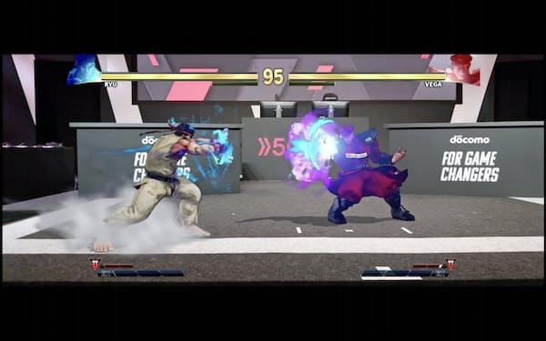 5GとARを使い、スマホで様々な角度からゲームの対戦を鑑賞できる(カプコンのゲームを使ったイメージ)
