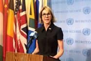 米国のクラフト国連大使(12日、ニューヨーク)
