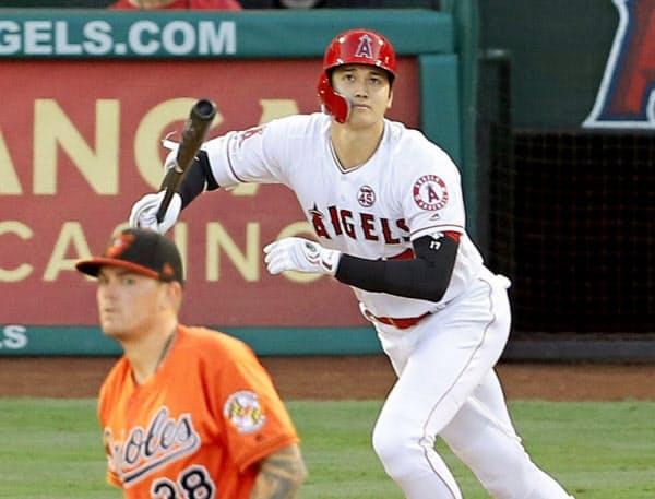 大谷は今季、18本塁打をマークしていた(アナハイム)=共同