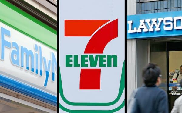 コンビニ大手3社では消費増税後、キャッシュレス決済による支払額が店舗で異なる