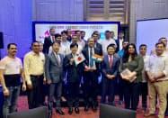 8月にムンバイで合弁会社の開設記念式典を開いた