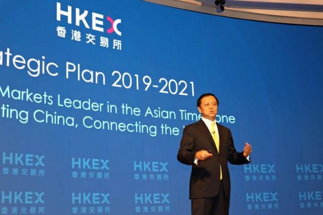 香港取引所の李小加CEOはロンドン証券取引所の買収に意欲を示していた