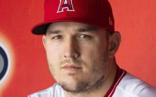 エンゼルスのマイク・トラウト外野手=ゲッティ共同