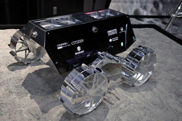 ispaceが現在開発している月面探査車。車輪が大きい設計は吉田のこだわりだ(19年8月)