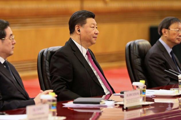 習近平国家主席(北京市、4月25日)=ロイター