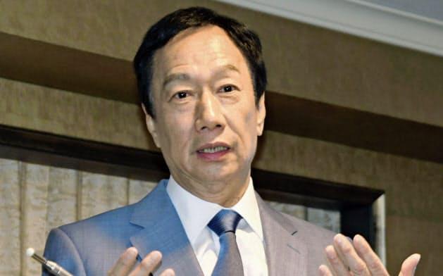 無所属での総統選出馬を突然、断念した鴻海精密工業前董事長の郭台銘氏(7日)=共同