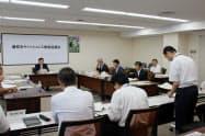 藤枝市役所で開かれたキャッシュレス推進協議会の初会合(17日)