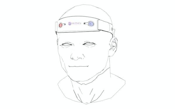 S'UIMIN(スイミン)が開発する脳波測定装置のイメージ(同社提供)