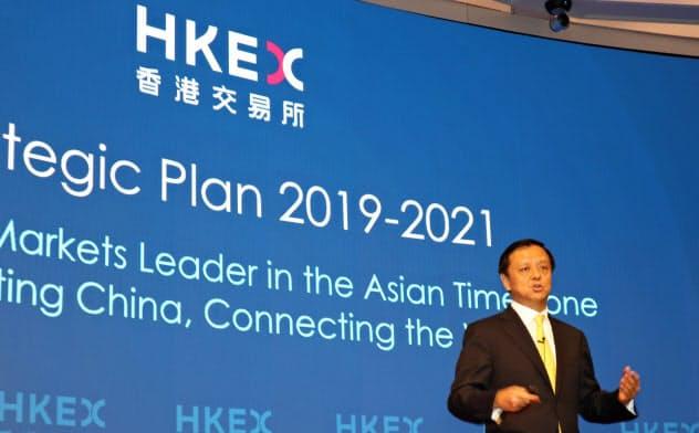 香港取引所の李CEOはかねて「世界」「拡大」を改革のキーワードに挙げていた