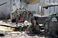 アフガニスタンの首都カブール中心部でも爆発があった(17日)=AP