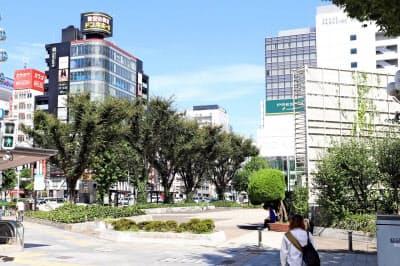 栄地区では再開発の期待が地価を押し上げている(名古屋市中区)