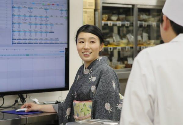 「陣屋コネクト」を通じて、売り上げなどの情報を従業員に開示している