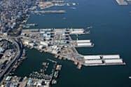 立地的に利便性が高いと判断した(横浜市がIR整備候補地とする、横浜港の山下ふ頭)