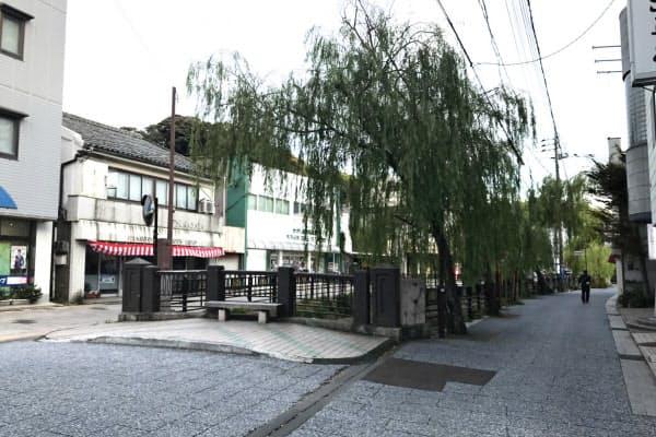 韓国人客が減った対馬の繁華街は閑散としている(9月1日)