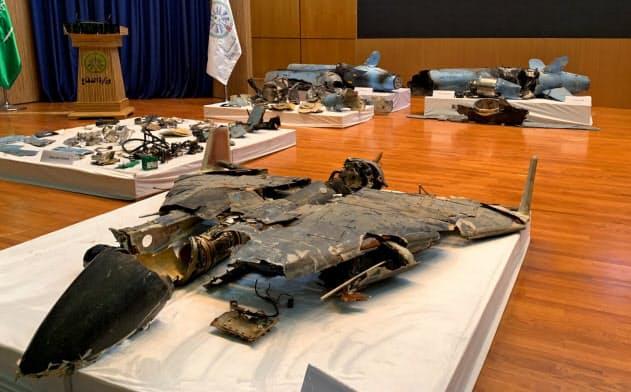 サウジ国防省「イランが関与」、ミサイルなど破片公開