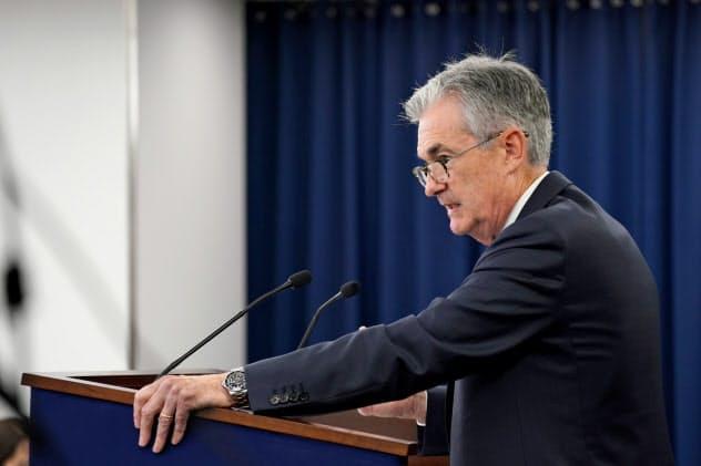 米連邦準備理事会(FRB)のパウエル議長(18日、ワシントン)=ロイター