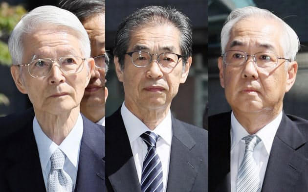 東電旧経営陣3人に無罪 原発事故で強制起訴