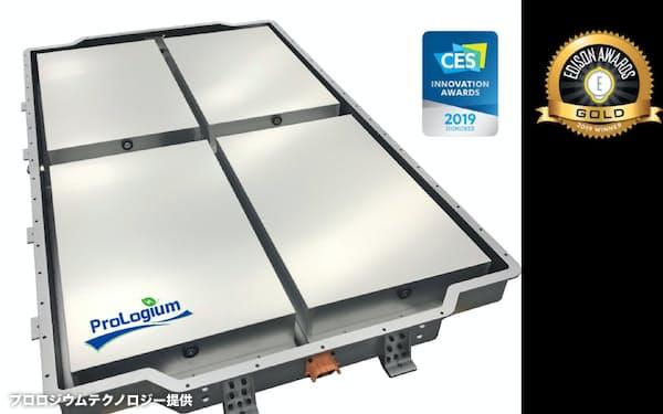PLGの全固体電池パック(プロロジウムテクノロジー提供)