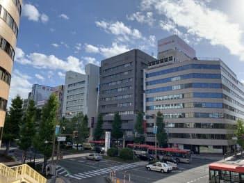 再開発が進む新潟駅前の基準地価は上昇傾向だ(新潟市中央区東大通)