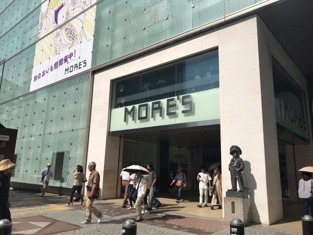 神奈川県内の商業地の価格1位だった横浜駅前の商業ビル「横浜モアーズ」