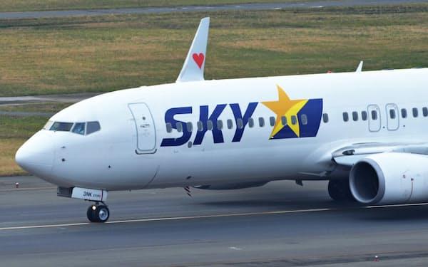 スカイマークは初の国際定期便を開設する。