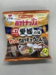 いりこだしの香りと、甘みが楽しめるという「松山鍋焼きうどん味」