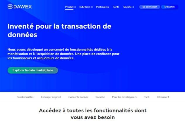 ダウエックスが運営するフランスのデータ売買ECサイトには8000社超が参加する