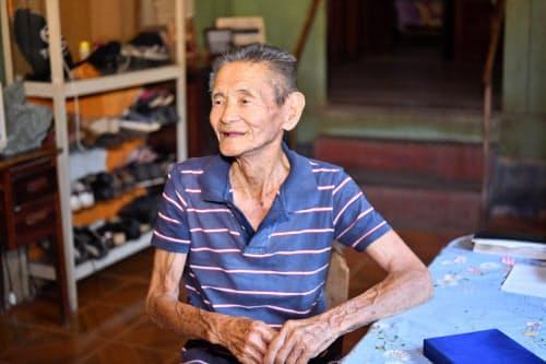 90年前にブラジルに移住した山田元氏(92)は「人間が住むような所ではなかった」と振り返る(ブラジル北部トメアス)