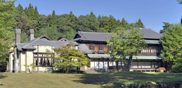 青森県六戸町の旧渋沢邸=共同