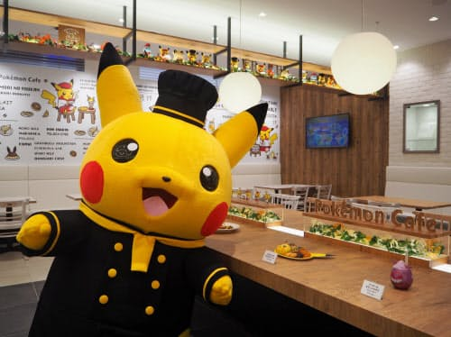 人気ゲーム・アニメ「ポケットモンスター」がテーマのカフェも入った