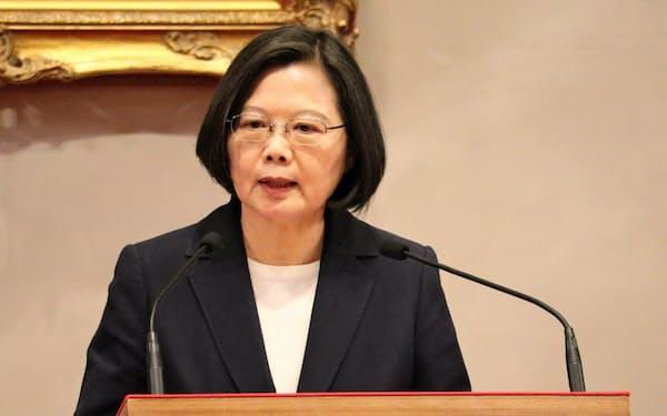 台湾の蔡英文総統への中国の圧力が強まっている(16日、台北市内)
