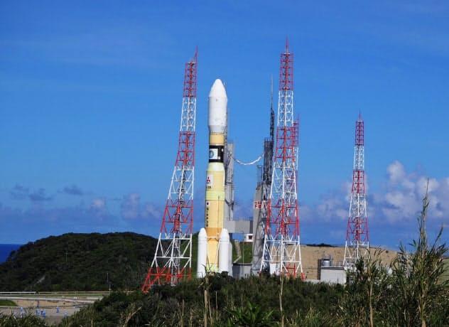 打ち上げを中止していた「H2B」8号機(種子島宇宙センター)