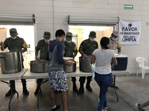 米からメキシコに移された不法移民(北部シウダフアレス)