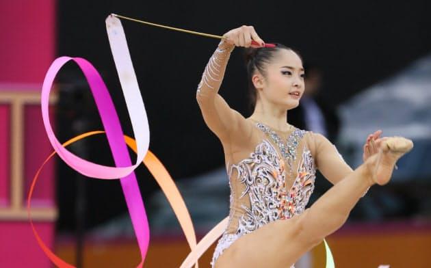 皆川13位、五輪出場枠獲得 世界新体操