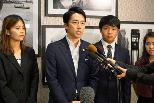 国連の気候関連の会合に出席した小泉進次郎環境相(22日、ニューヨーク)