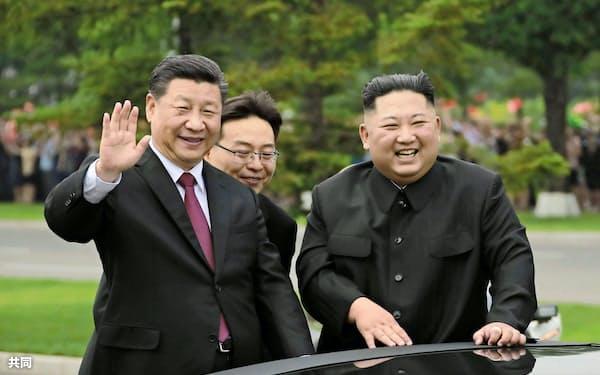 中朝首脳は6月には平壌で会談した=朝鮮中央通信・共同
