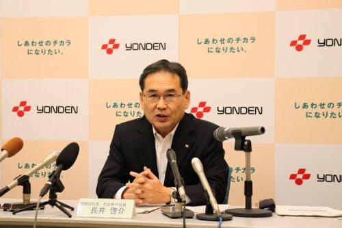 四国電力の長井啓介社長は千葉県内の停電を踏まえ対策を検討する方針を示した