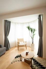 体験宿泊できるモデルハウスのリビングルーム(名古屋市)