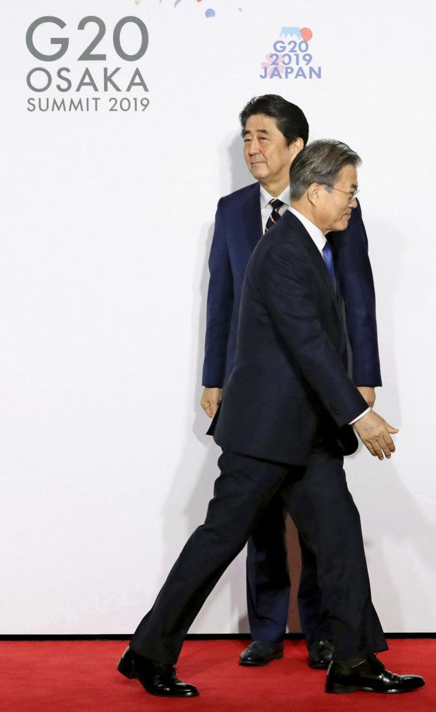 G20大阪サミットでも日韓首脳は会談しなかった=6月28日、大阪市(聯合=共同)
