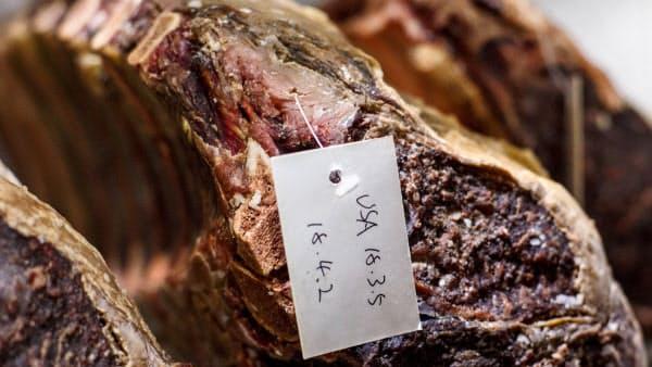 輸出された米国産牛肉=ロイター