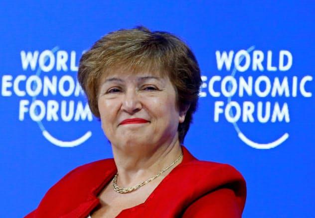 IMF新専務理事に就任するゲオルギエワ氏=ロイター