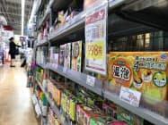 冬にかけて入浴剤の需要は高まる(東京都千代田区のビックカメラ有楽町店)